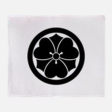 Wood sorrel with swords in circle Throw Blanket