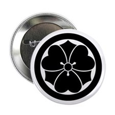 """Wood sorrel with swords in 2.25"""" Button (10 pack)"""