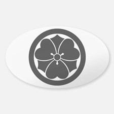 Wood sorrel with swords in circle Decal