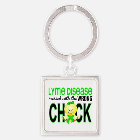Lyme Disease MessedWithWrongChick1 Square Keychain