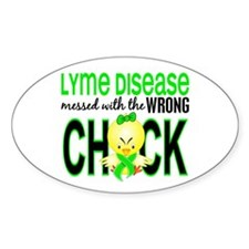 Lyme Disease MessedWithWrongChick1 Decal