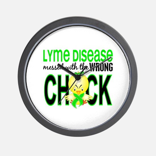 Lyme Disease MessedWithWrongChick1 Wall Clock