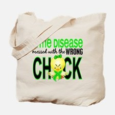 Lyme Disease MessedWithWrongChick1 Tote Bag