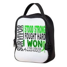 Lyme Disease Survivor 4 Neoprene Lunch Bag