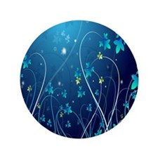 """Nightly Floral 3.5"""" Button"""