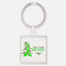 Lyme Disease Survivor 3 Square Keychain