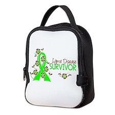Lyme Disease Survivor 3 Neoprene Lunch Bag
