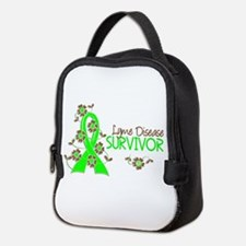 Lyme Disease Survivor 3 Neoprene Lunch Bag