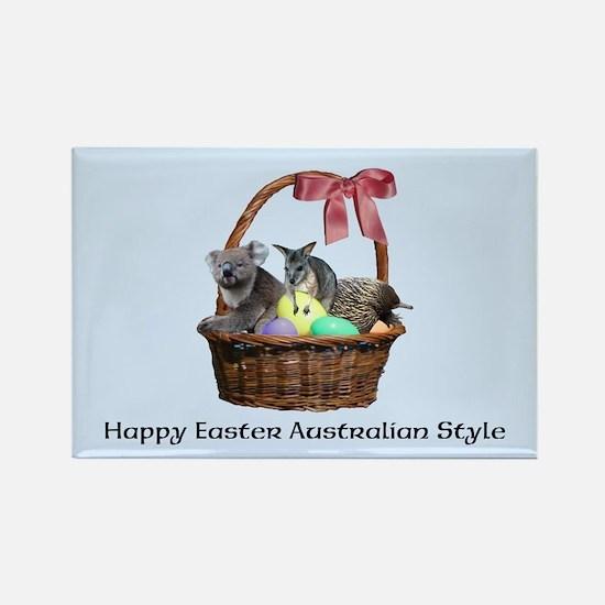 Australian Easter Basket Customiz Rectangle Magnet