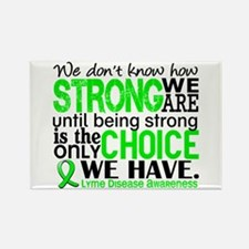 Lyme Disease HowStrongWeAre1 Rectangle Magnet