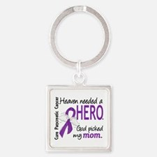 Pancreatic Cancer Heaven Needed He Square Keychain