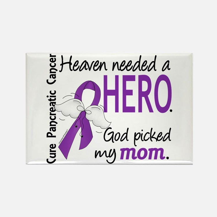Pancreatic Cancer Heaven Needed H Rectangle Magnet