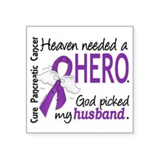 "Pancreatic Cancer Heaven Ne Square Sticker 3"" x 3"""