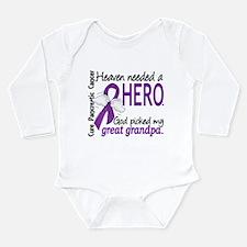 Pancreatic Cancer Heav Long Sleeve Infant Bodysuit