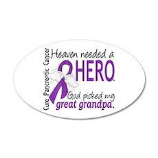 Pancreatic Cancer Heaven Nee Wall Decal