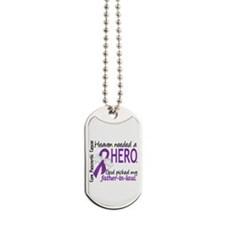 Pancreatic Cancer Heaven Needed Hero 1.1 Dog Tags