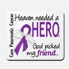 Pancreatic Cancer Heaven Needed Hero 1.1 Mousepad