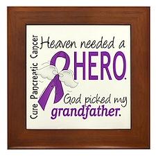 Pancreatic Cancer Heaven Needed Hero 1 Framed Tile