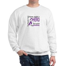 Pancreatic Cancer Heaven Needed Hero 1. Sweatshirt