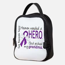 Pancreatic Cancer Heaven Needed Neoprene Lunch Bag