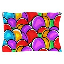 Colored Easter Eggs Pillow Case