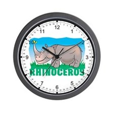 Kid Friendly Rhinoceros Wall Clock