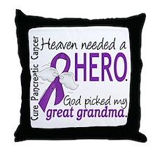Pancreatic Cancer Heaven Needed Hero Throw Pillow