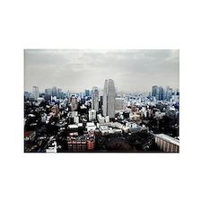 tokyo city skyline Rectangle Magnet