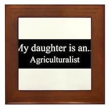 Daughter - Agriculturalist Framed Tile