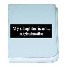 Daughter - Agriculturalist baby blanket