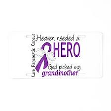 Pancreatic Cancer Heaven Ne Aluminum License Plate