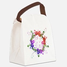 Floral Flower Canvas Lunch Bag