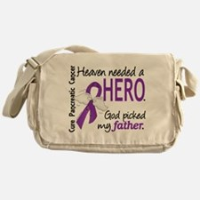 Pancreatic Cancer Heaven Needed Hero Messenger Bag