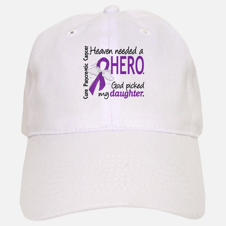 Pancreatic Cancer Heaven Needed Hero 1.1 Baseball Baseball Cap