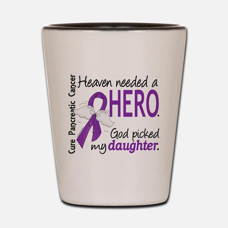 Pancreatic Cancer Heaven Needed Hero 1. Shot Glass