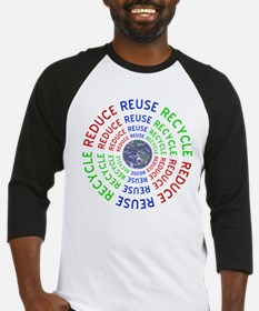 Reduce Reuse Recycle with Earth Baseball Jersey