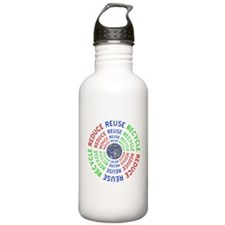 Reduce Reuse Recycle w Water Bottle
