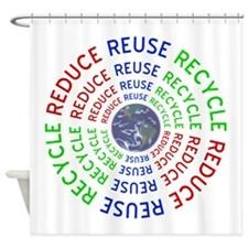 Reduce Reuse Recycle with Earth Shower Curtain