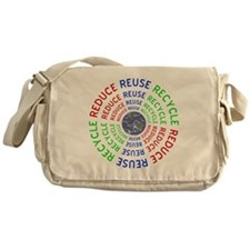 Reduce Reuse Recycle with Earth Messenger Bag
