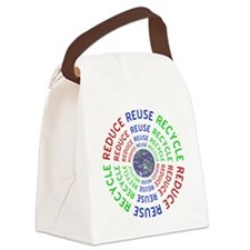 Reduce Reuse Recycle with Earth Canvas Lunch Bag