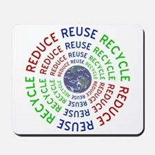 Reduce Reuse Recycle with Earth Mousepad