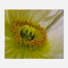 Poppy Flower Throw Blanket