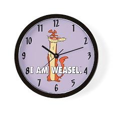 I Am Weasel Wall Clock