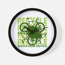 Environmental reCYCLE Wall Clock