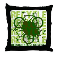Environmental reCYCLE Throw Pillow