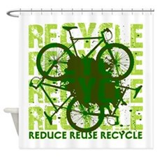 Environmental reCYCLE Shower Curtain