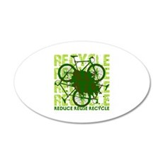 Environmental reCYCLE 20x12 Oval Wall Decal