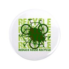 """Environmental reCYCLE 3.5"""" Button (100 pack)"""