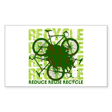 Environmental reCYCLE Sticker (Rectangle)
