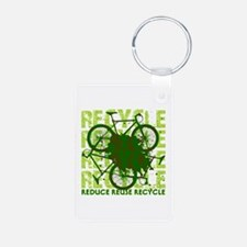 Environmental reCYCLE Keychains